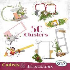 Pack 50 Cadres et décoration - 50  Clusters