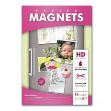 Papier Magnets blanc brillant - Feuilles A4