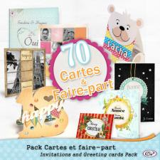 Pack 70 cartes et faire-part