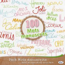 Pack « 100 mots manuscrits »