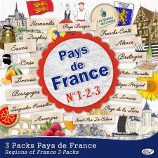 Lot 3 packs « Pays de France » - 1ère, 2ème et 3ème parties