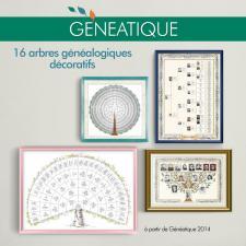 Pack de 16 arbres généalogiques décoratifs pour Généatique
