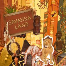 « Savanna land » digital kit