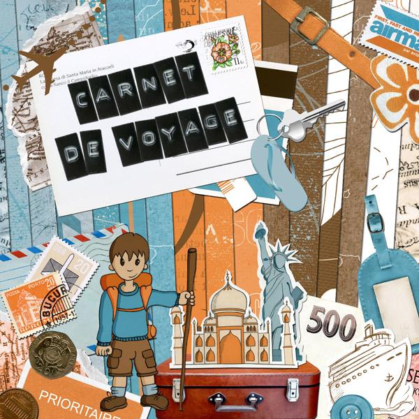 Faire Un Carnet De Voyage Scrapbooking : kit carnet de voyage en t l chargement cdip boutique logiciel de g n alogie et scrapbooking ~ Melissatoandfro.com Idées de Décoration