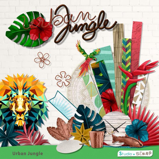 kit urban jungle en t l chargement cdip boutique logiciel de g n alogie et scrapbooking. Black Bedroom Furniture Sets. Home Design Ideas