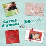 Modèles de cartes « Cartes d'amour » - Saint-Valentin