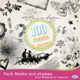 Pack of 100 Masks & Stamps by download