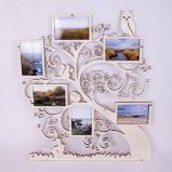 Cadre arbre généalogique en bois - 6 photos