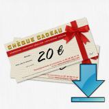 Chèque cadeau à recevoir par mail