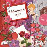 "Mini digital kit  ""Valentine Day"" by download"