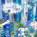 "Digital kit ""Simply blue"" by download"
