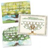 Lot de 3 arbres imprimés au format A2