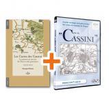 """Carte de Cassini en coffret + le livre """"Les cartes des Cassini"""""""