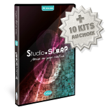 """Pack """"ULTIMO"""" Studio-Scrap 8 Deluxe en coffret+ 10 kits en téléchargement à choisir plus tard"""
