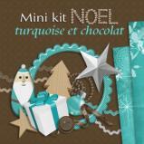 Mini-kit « Noël turquoise-chocolat» en téléchargement