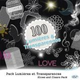 Pack 100 lumières et transparences en téléchargement