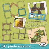 Pack of 50 Photo cluster frames by download