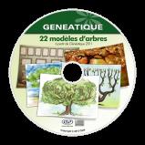 Pack de 22 modèles d'arbres généalogiques pour Généatique