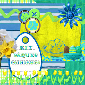 « Spring easter » digital kit - 00 - Presentation