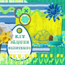 « Spring easter » digital kit - 00 - Presentation