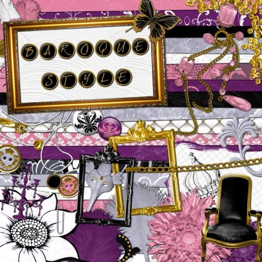 « Baroque style » digital kit - 00 - Presentation