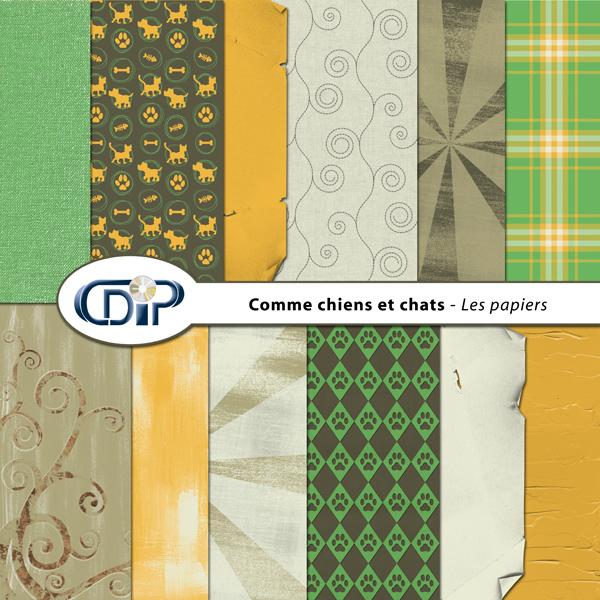 Kit « Comme chiens et chats » - 01 - Les textures