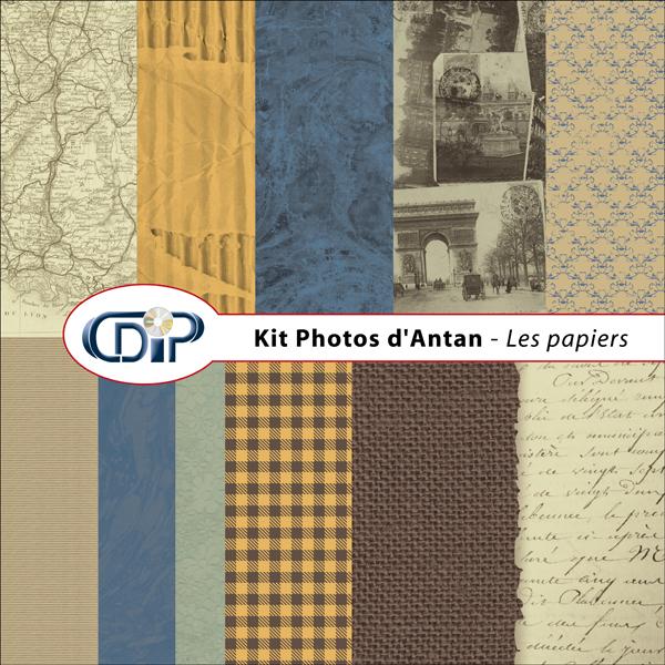 Kit « Photos d'antan » - 01 - Les textures