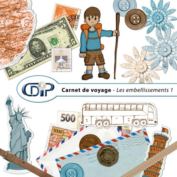 Kit « Carnet de voyage » - 02 - Les embellissements 1