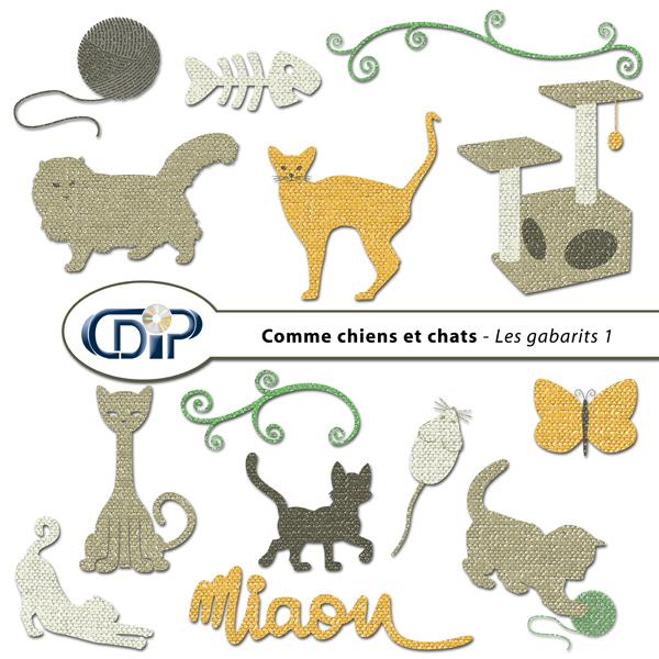 Kit « Comme chiens et chats » - 05 - Les gabarits 1