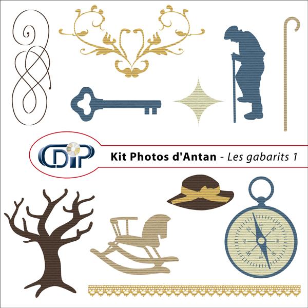 Kit « Photos d'antan » - 05 - Les gabarits 1