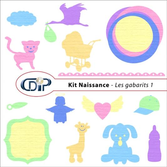 Kit « Naissance » - 05 - Les gabarits 1