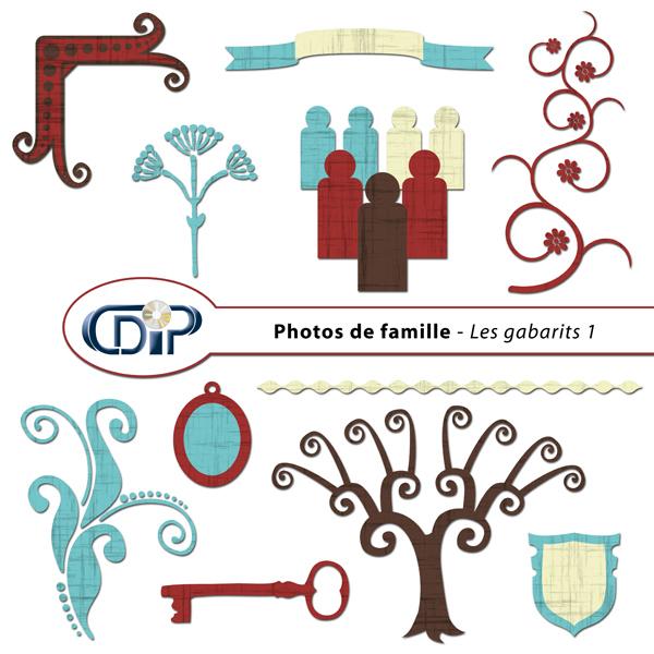 Kit « Photos de famille » - 05 - Les gabarits 1