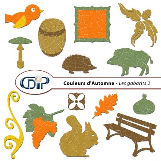 Kit « Couleurs d'automne » - 06 - Les gabarits 2