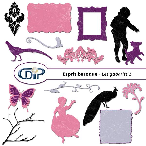 Kit « Esprit baroque » - 06 - Les gabarits 2