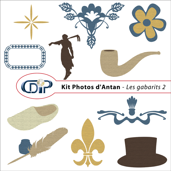Kit « Photos d'antan » - 06 - Les gabarits 2