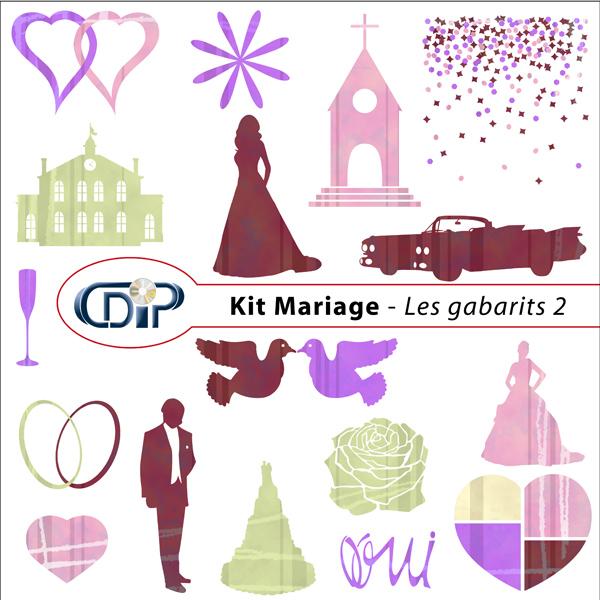 Kit « Mariage » - 06 - Les gabarits 2