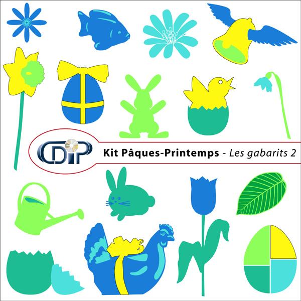 Kit « Pâques-printemps » - 06 - Les gabarits 2