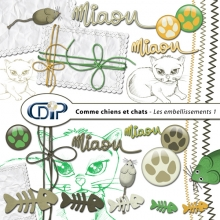 Kit « Comme chiens et chats » - 02 - Les embellissements 1