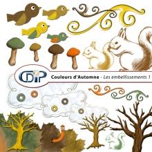 Kit « Couleurs d'automne » - 02- Les embellissements 1