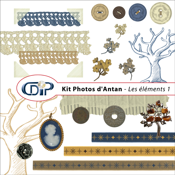 Kit « Photos d'antan » - 02 - Les embellissements 1
