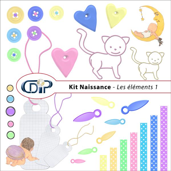 Kit « Naissance » - 02 - Les embellissements 1