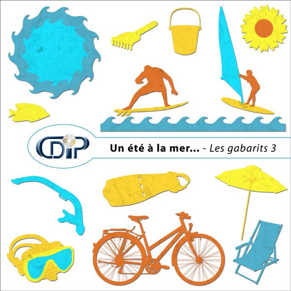 Kit « Un été à la mer… » - 07 - Les gabarits 3