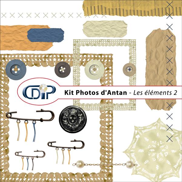 Kit « Photos d'antan » - 03 - Les embellissements 2