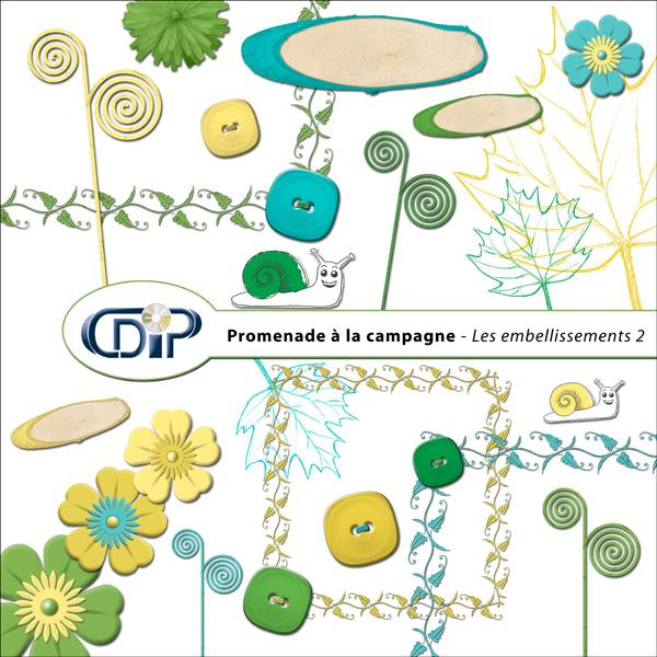 Kit « Promenade à la campagne » - 03 - Les embellissements 2