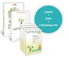 Généatique 2017 Prestige en coffret + son guide de référence et 4 numéros de Généatique Info