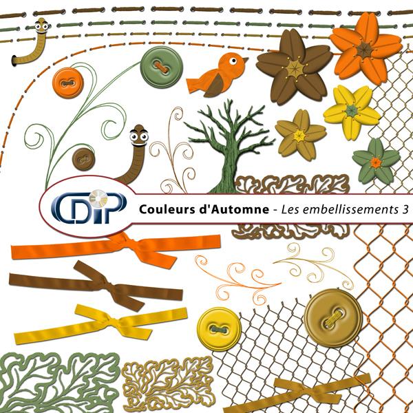 Kit « Couleurs d'automne » - 04 - Les embellissements 3