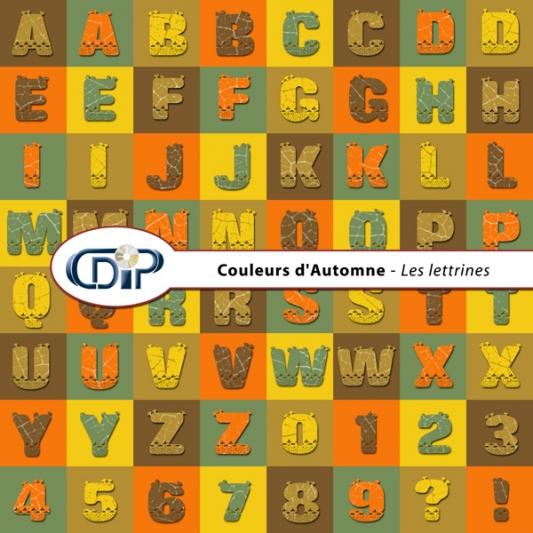 Kit « Couleurs d'automne » - 07 - Les lettrines