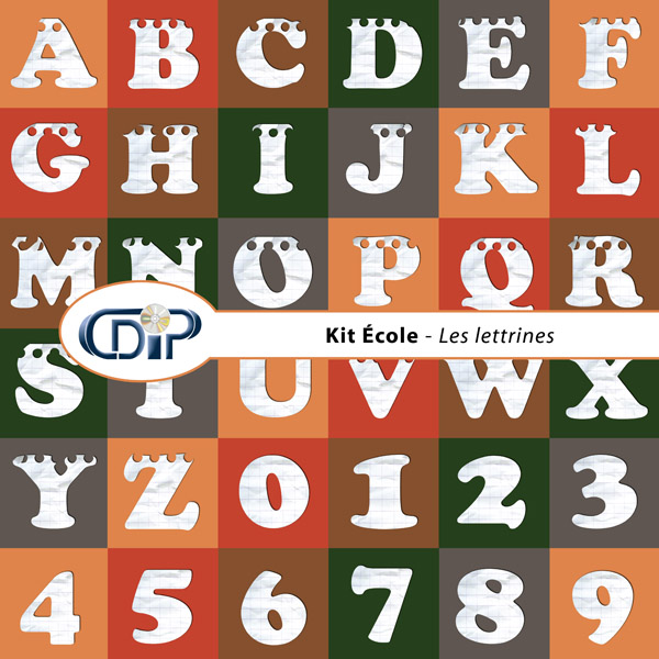 Kit « Ecole » - 07 - Les lettrines