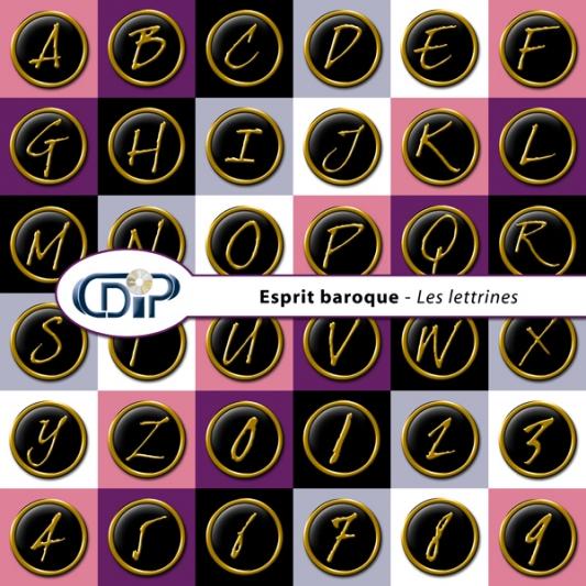 Kit « Esprit baroque » - 07 - Les lettrines