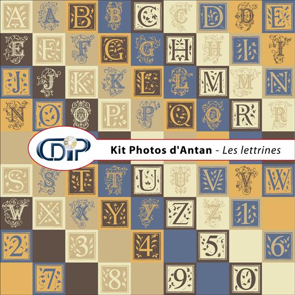 Kit « Photos d'antan » - 07 - Les lettrines